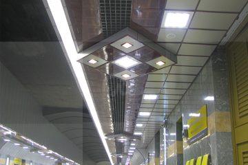 سقف کاذب ایستگاه متروی انقلاب