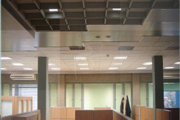 سقف کاذب ساختمان شرکت گاز